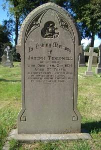 JosephTideswell - Grave
